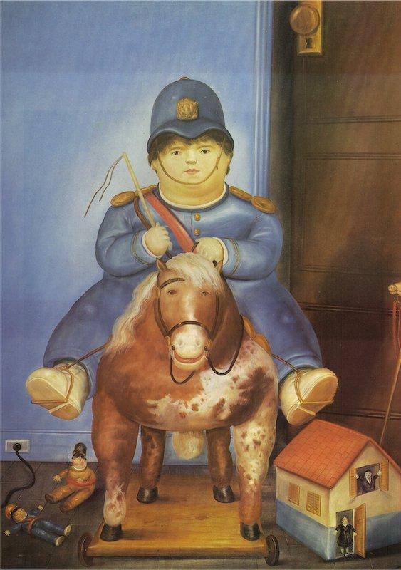 Fernando Botero Pedro On Horseback