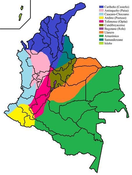 Dialectes Colombie